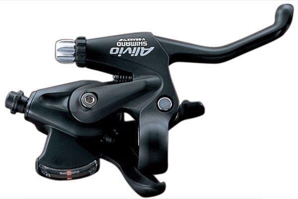 Купить Шифтер/тор.ручка ALIVIO(01), ST-MC20L, левый, на 3 скорости в интернет магазине велосипедов. Выбрать велосипед. Цены, фото, отзывы