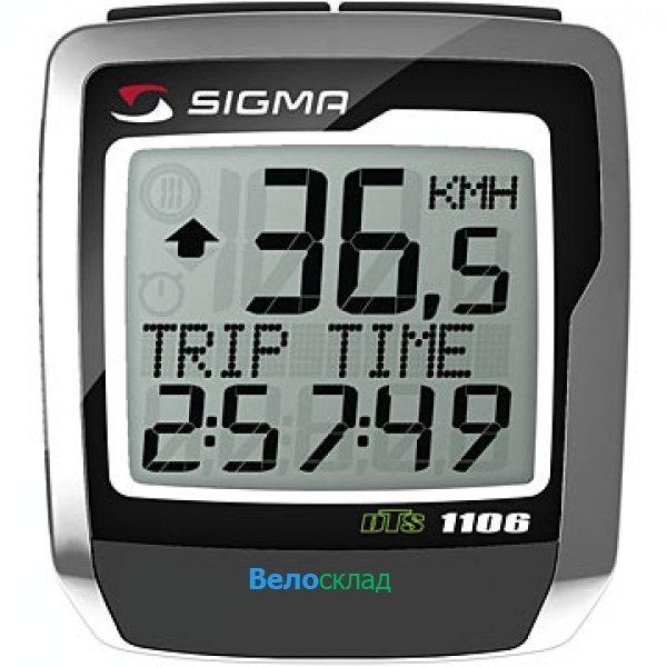 Купить Велокомпьютер Sigma BC-1106L+DTS WIRELESS в интернет магазине велосипедов. Выбрать велосипед. Цены, фото, отзывы