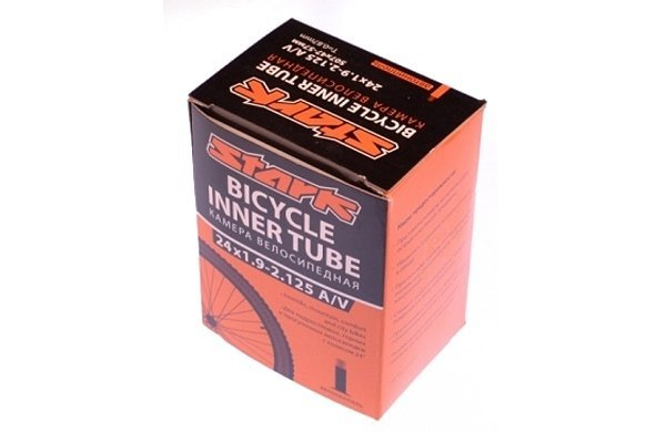 Купить Камера Stark 24*1,9 - 2,125 A/V в интернет магазине велосипедов. Выбрать велосипед. Цены, фото, отзывы