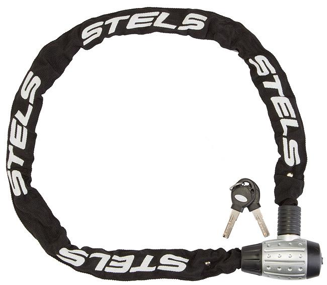 Велозамок Stels 85704 (6x1200мм) цепь с ключом