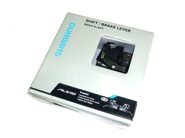 Купить Шифтер/Тормоз Shimano Alivio, ST-M430, лев/пр, 3x9ск, черн. в интернет магазине велосипедов. Выбрать велосипед. Цены, фото, отзывы
