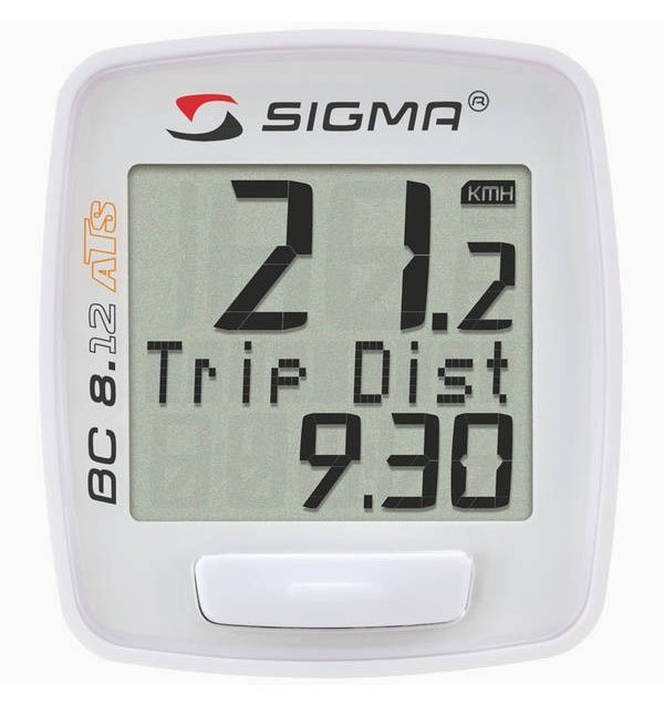 Купить Велокомпьютер Sigma BC 8.12 Topline 8 функций ATS в интернет магазине велосипедов. Выбрать велосипед. Цены, фото, отзывы