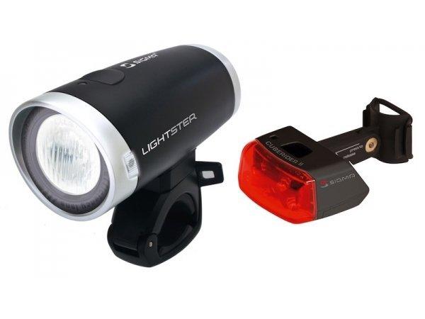 Купить Комплект фонарей Sigma Lightster + Cuberider II в интернет магазине велосипедов. Выбрать велосипед. Цены, фото, отзывы