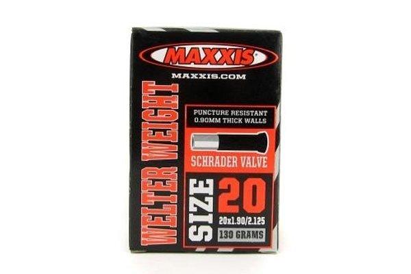 Купить Камера Maxxis WelterWeight 20x1.90ǘ.125 авто нип. в интернет магазине велосипедов. Выбрать велосипед. Цены, фото, отзывы