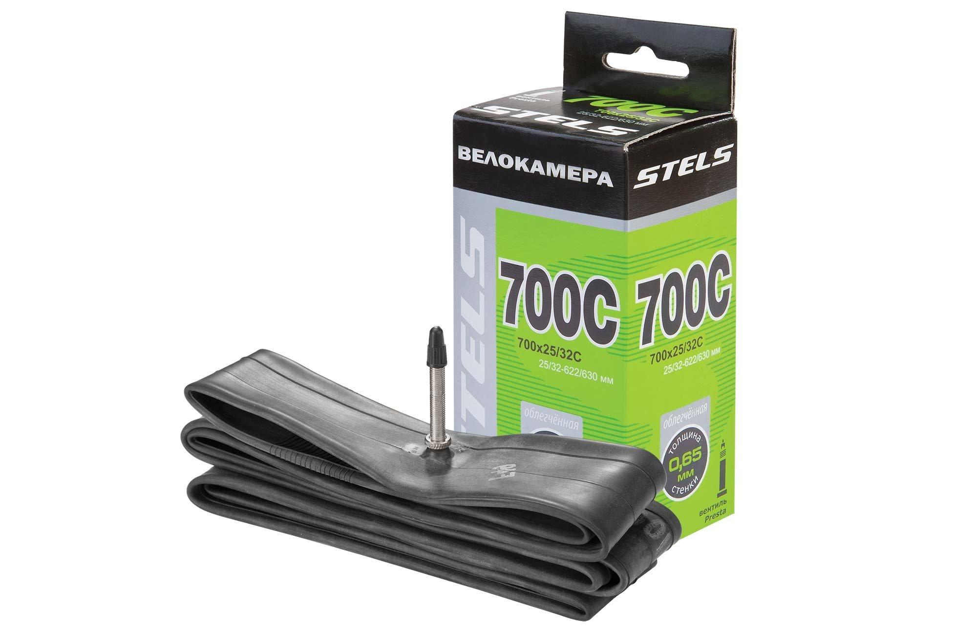Купить Камера Stels 700x25ቼC с велониппелем в интернет магазине велосипедов. Выбрать велосипед. Цены, фото, отзывы