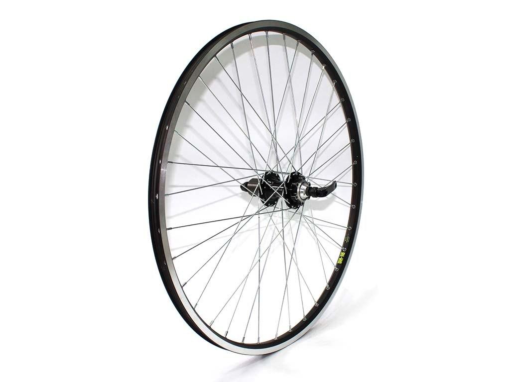 Купить Колесо заднее 27.5ʺ в сборе, касс. 8ǟск, диск 6 болт, QR в интернет магазине велосипедов. Выбрать велосипед. Цены, фото, отзывы