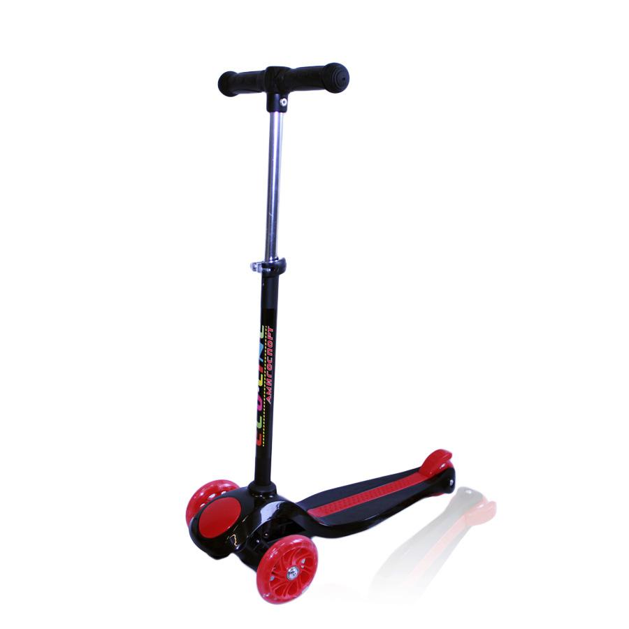TomasoНадежный детский самокат со светящимися колесами Explore Tomaso идеально подойдет для начального обучения ребенка возрастом от 2-х лет. Устойчивая трехколесная конструкция обеспечит необходимую стабильность. Длина платформы: 31 см. Алюминиевый руль регулируется по высоте до 70 см, при необходимости его можно снять. Колеса самоката изготовлены из полиуретана жесткостью 78А, комплектуются подшипниками ABEC 5. Диаметр: передние 110 мм / заднее 76 мм. Выдерживает нагрузку до 40 кг. Тормоз: ножной. Расцветки: белый, голубой, красный, розовый, синий, черный.<br>