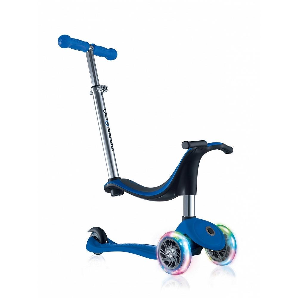 Купить Самокат Globber Evo 4 in 1 Lights в интернет магазине велосипедов. Выбрать велосипед. Цены, фото, отзывы