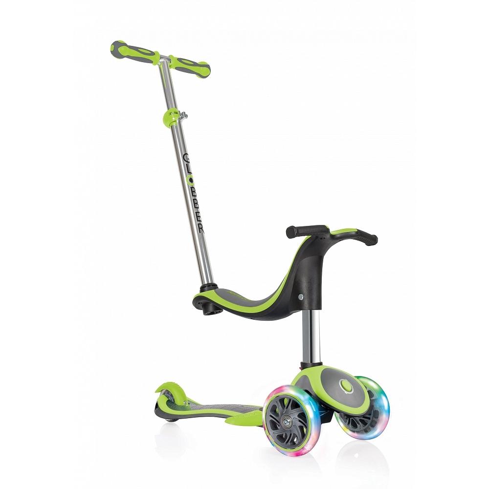Купить Самокат Globber Evo 4 in 1 Plus Lights в интернет магазине велосипедов. Выбрать велосипед. Цены, фото, отзывы