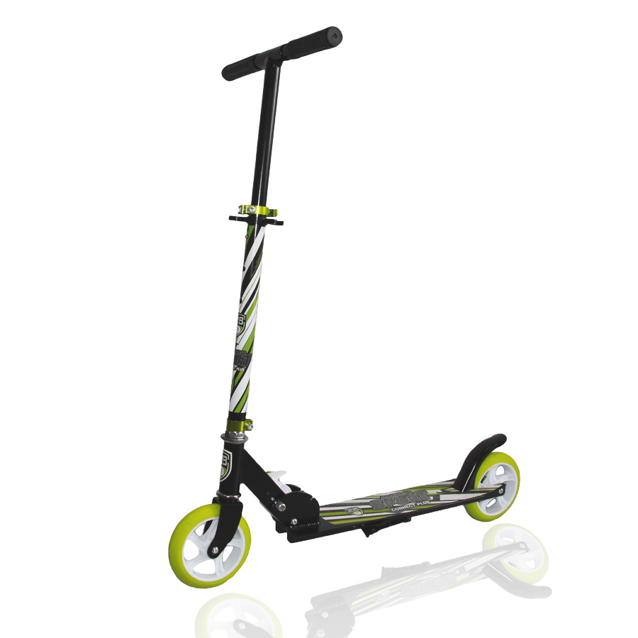 Connect PlusExplore Connect Plus - недорогой самокат, разработанный для детей возрастом от 6 лет и ростом 105-140 см. Алюминиевая рама самоката выдерживает нагрузку до 80 кг. Оснащен удобным складным механизмом для удобного хранения и транспортировки. Руль самоката регулируется по высоте в диапазоне от 58 до 78 см. Полиуретановые колеса диаметром 145 см и жесткостью 82А комплектуются надежными подшипниками ABEC 5. Простой ножной тормоз работает эффективно и без нареканий. Для стоянки предусмотрена складная подножка. Весит Connect Plus всего 2,5 кг.<br>
