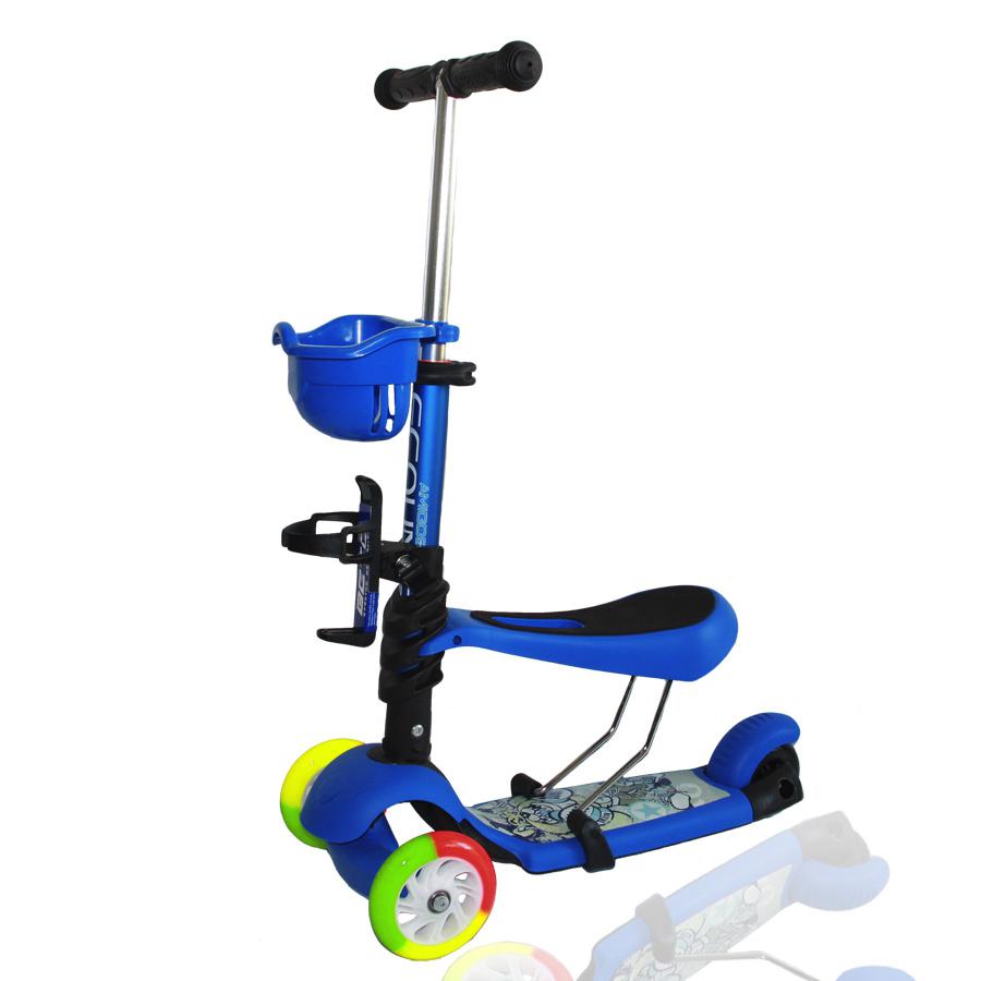 CedricСамокат Explore Compound - это модель-трансформер с прикрепляемым сиденьем, на которой можно начинать кататься с 1 года. Дека самоката выполнена из прочного пластика и выдерживает нагрузку до 25 кг. Т-образный алюминиевый руль снабжен мягкими резиновыми рукоятками, поворот осуществляется наклоном руля вправо/влево. Разноцветные полиуретановые колеса дополняют красочный облик самоката. Два больших колеса диаметром 125 мм и одно заднее 80 мм делают самокат устойчивым. Из дополнительных аксессуаров в комплекте есть передняя корзинка для игрушек, а также держатель для бутылочки. Тормоз - ножной (заднее крыло). Вес самоката - 2,6 кг.<br>
