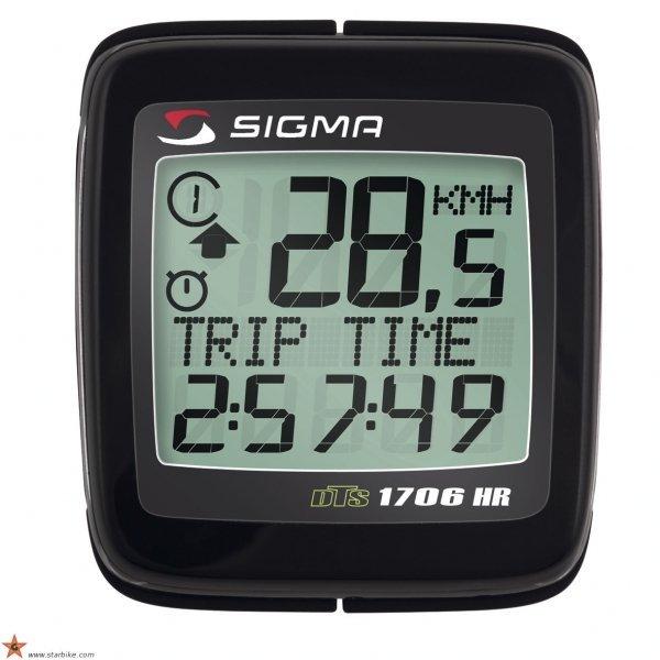 Купить Велокомпьютер Sigma BC-1706 Topline с пульсомером в интернет магазине велосипедов. Выбрать велосипед. Цены, фото, отзывы