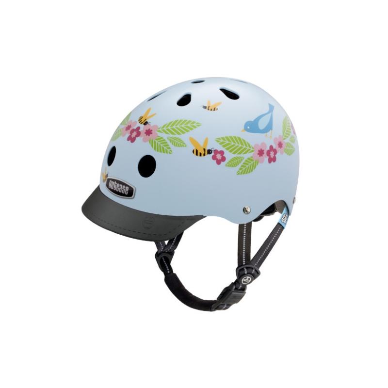 Шлем защитный Nutcase Little Nutty Blue Birds & Bees