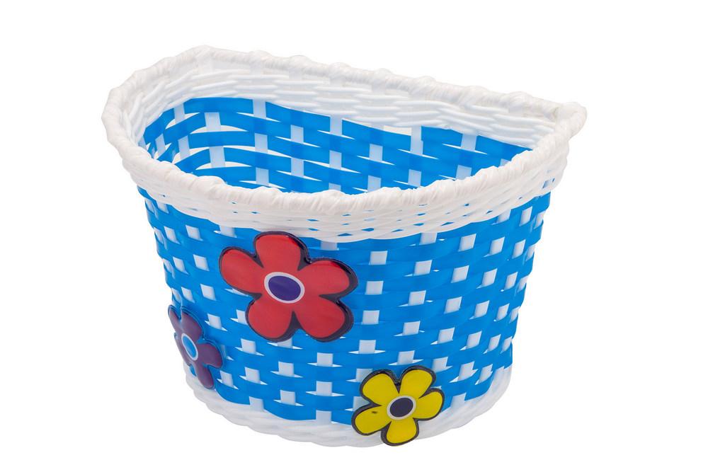 Велокорзина HL-BS04 «Цветы» для детских вел.