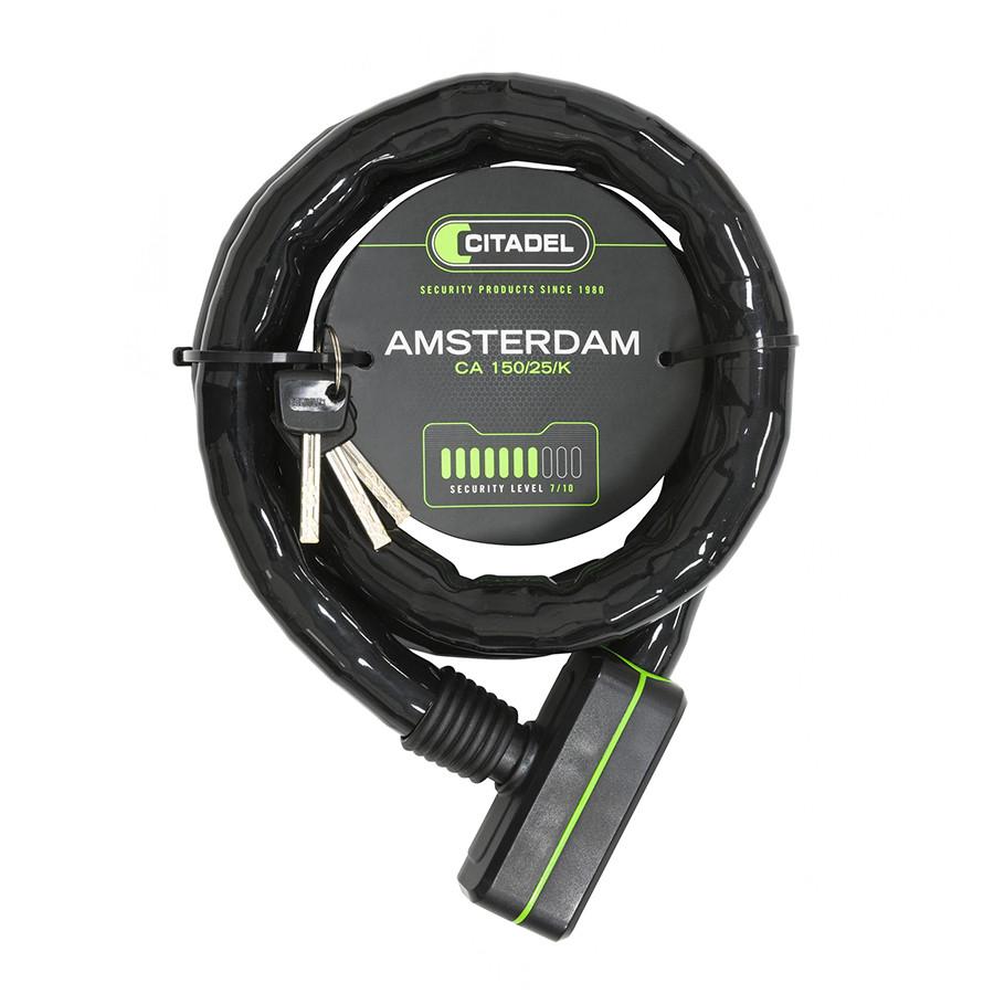 Велозамок Citadel Amsterdam CA 150/25/K трос, ключ