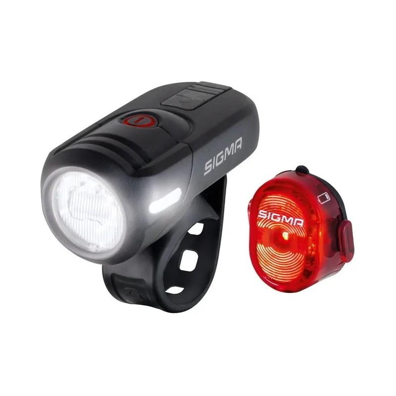 Комплект фонарей Sigma Sport Aura 45 USB+Nugget 2