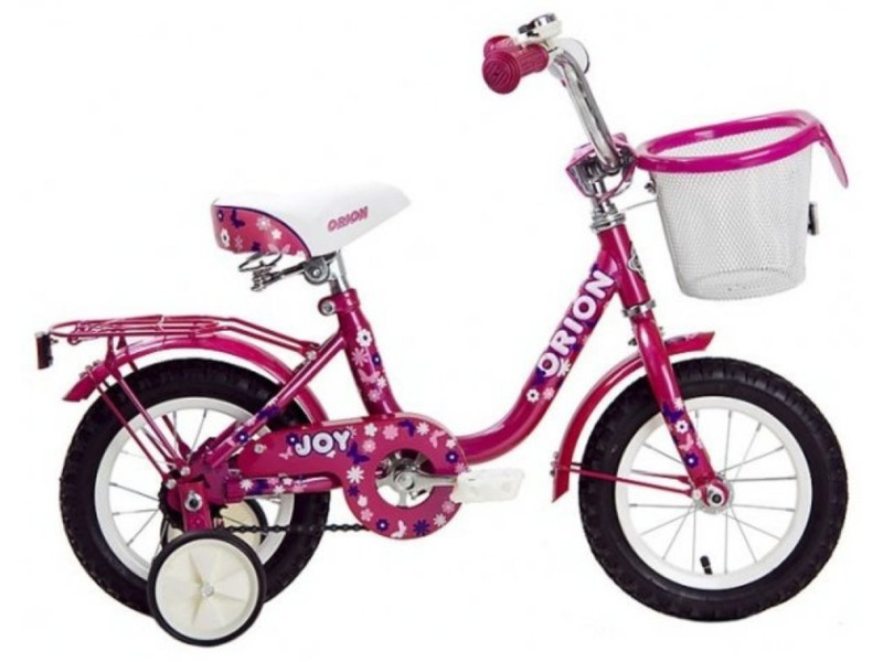 Joy 12 (2014)Велосипед, предназначенный для девочек в возрасте от полутора до трех лет, без переключения передач. Технические особенности: прочная стальная рама, жесткая стальная вилка, одинарные обода, ножные педальные тормоза, отличающиеся наибольшей простотой в использовании и надежностью. Подходит для обучения и легких прогулок. Диаметр колес - 12 дюймов. Вес - 9,6 кг.<br><br>Рама: сталь<br>Тормоза: задний ножной<br>Цвета выпускаемые: Розовый, Светло-зелёный
