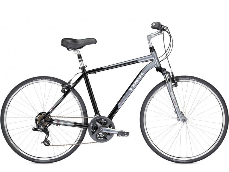 Verve 2 (2014)Дорожный велосипед гибридного типа с оборудованием любительского класса SRAM, 21 скорость. Технические особенности: алюминиевая рама Alpha Gold Aluminum, амортизационная вилка SR Suntour NEX, двойные обода Bontrager AT-550, надежные ободные тормоза Tektro alloy linear-pull. Подходит для прогулочной езды по шоссе и ровным проселочным дорогам. Диаметр колес - 28 дюймов. Вес - 13,7 кг.<br><br>Рама: Alpha Gold Aluminum<br>Вилка: SR Suntour NEX, preload adjustable, 50mm travel<br>Манетки: SRAM 3.0 Comp, 7 speed twist<br>Тормоза: Tektro alloy linear-pull brakes<br>Передний переключатель: Shimano Tourney<br>Задний переключатель: SRAM X3<br>Передняя втулка: Formula FM21 alloy front hub<br>Задняя втулка: Formula FM31 alloy rear hub<br>Система: Shimano M131, 48/38/28 w/chainguard<br>Кассета: SunRace Freewheel 14-34, 7 speed<br>Педали: Wellgo nylon platform<br>Рулевая колонка: 1-1/8<br>Вынос: Alloy, adjustable rise, quill<br>Руль: Steel, 50mm rise, 15 degree sweep<br>Подседельный штырь: Alloy, adjustable suspension, 27.2mm<br>Седло: Bontrager Boulevard<br>Обода: Bontrager AT-550 36-hole alloy rims<br>Покрышки: Bontrager H5, 700x35c<br>Цвета выпускаемые: Graphite/Metallic Black, Prime Blue/Metallic Blue<br>Размеры выпускаемые: 15, 17.5, 20, 22.5