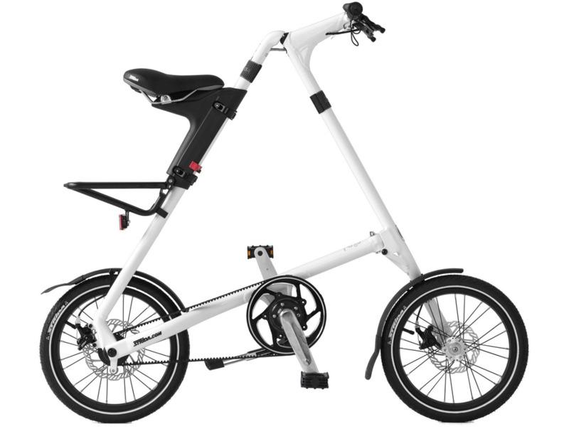 SD (2015)Велосипеды Складные<br>Двухскоростная Strida на 16-дюймовых колесах. Скорости переключаются проворачиванием педалей назад на 90°, переключатели, встроенны в ведущую звездочку, что позволяет переключать скорости одним движением ноги. Оснащен дисковыми тормозами и пластиковым багажником. Рост велосипедиста: 155–193 см. Размер в собранном виде: 114x51x23 см. Подходит для прогулочного катания в городских условиях. Вес велосипедиста - до 100 кг. Диаметр колес - 16 дюймов. Вес - 11,4 кг.<br><br>Рама: алюминий 7000, усиленная<br>Тормоза: дисковые, передний и задний<br>Педали: пластиковые складные<br>Седло: гелевое, быстрая регулировка по высоте<br>Обода: алюминиевые<br>Покрышки: GMD 16x1,5