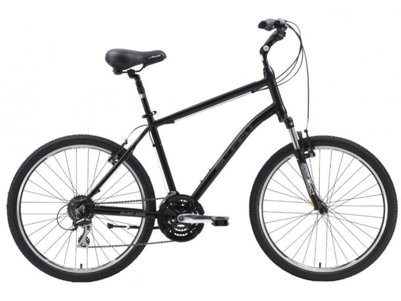 City (2015)Комфортабельный велосипед с оборудованием любительского класса Shimano, 24 скорости. Технические особенности: алюминиевая рама Smart City Alloy, амортизационная вилка SR Suntour XCT-V4, двойные обода DH-18, надежные ободные тормоза Promax TX-117, регулируемый вынос, амортизированный подседельный штырь. Подходит для прогулочной езды по различным дорогам. Диаметр колес - 26 дюймов. Вес - 15,2 кг.<br><br>Рама: Smart City Alloy<br>Вилка: SR Suntour XCT-V4, 80mm Travel<br>Манетки: Shimano ST-EF51, 3x8<br>Тормоза: Promax TX-117 Alloy, V-Brake<br>Передний переключатель: Shimano Tourney FD-TX50<br>Задний переключатель: Shimano Acera RD-M360<br>Передняя втулка: Alloy QR Type<br>Задняя втулка: Alloy QR Type<br>Каретка: Shimano BB-UN26<br>Кассета: LY-3008CHJ, 8SP, 13-23T<br>Цепь: KMC Z72<br>Шатун: Lasco 48/38/28T<br>Педали: Plastic Comfort<br>Рулевая колонка: Alloy<br>Вынос: Zoom TDS-D392A-8<br>Руль: PromaxHB-T305 H 40 W 640<br>Подседельный штырь: Smart, Alloy Suspension<br>Седло: Velo Relaxed 6099E<br>Обода: DH-18 Alloy Doublewall<br>Покрышки: Kenda K841A, 26X1.95<br>Размеры выпускаемые: S, M, L
