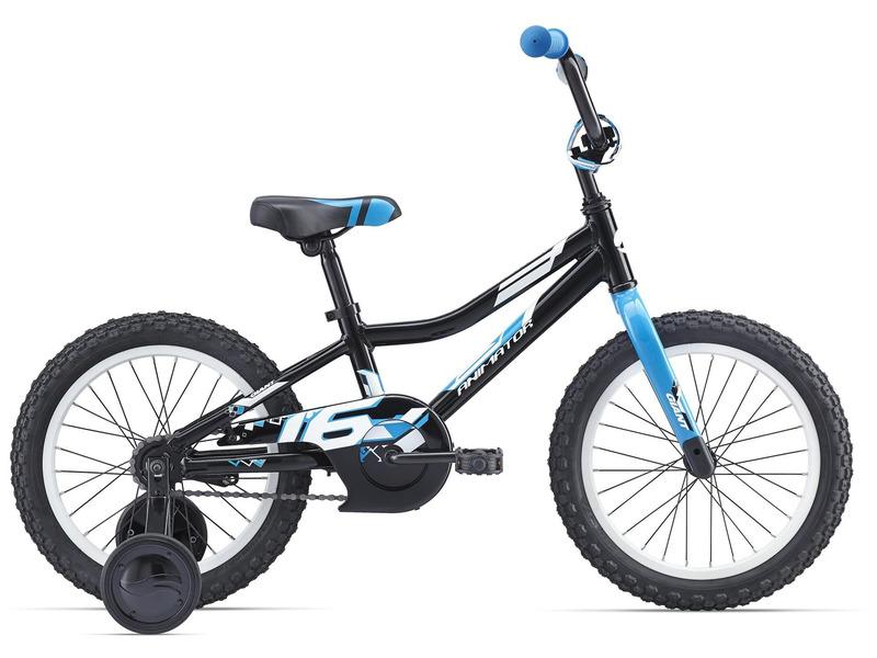 Animator C/B 16 (2016)Велосипед, предназначенный для детей в возрасте от трех до шести лет, без переключения передач. Технические особенности: алюминиевая рама ALUXX-Grade Aluminum, жесткая вилка High Tensile steel, двойные обода Giant kids, ножные педальные тормоза, съемные боковые колеса, защита цепи. Подходит для обучения и легких прогулок. Диаметр колес - 16 дюймов. Вес - 9,9 кг.<br><br>Рама: ALUXX-Grade Aluminum<br>Вилка: High Tensile steel rigid Fork, 1-1/8<br>Тормоза: Coaster<br>Передняя втулка: Nutted, 20H with 74mm O.L.D<br>Задняя втулка: Nutted, 20H with 74mm O.L.D<br>Система: High Tensile steel 1-piece, 28T<br>Каретка: Loose Ball<br>Кассета: 18T<br>Цепь: PAM 1/2X1/8X72L anti-rust<br>Педали: Nylon Platform<br>Вынос: 4-bolt alloy top plate, Quill<br>Руль: Giant kids, High Rise 22.2mm, 152mm rise, with tapper end<br>Подседельный штырь: Steel 27.2x230mm<br>Седло: Giant Kids<br>Обода: Giant kids 16<br>Спицы: 14G BED<br>Покрышки: Giant Kids, 16x2.125<br>Цвета выпускаемые: черный/синий, оранжевый<br>Размеры выпускаемые: 16