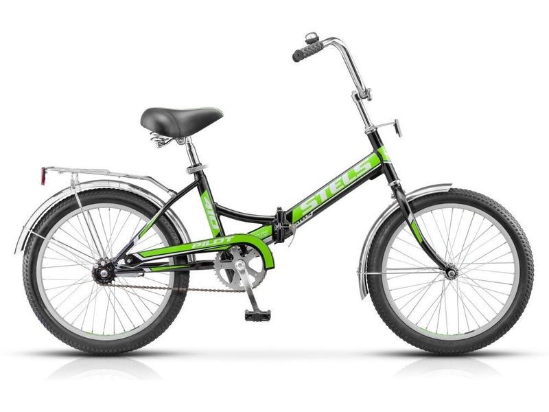 Pilot 410 (2016)Велосипеды Складные<br>Складной прогулочный велосипед без переключения передач. Технические особенности: прочная стальная рама, жесткая вилка, одинарные алюминиевые обода, ножные педальные тормоза, крылья из нержавеющей стали, защита цепи, стальной багажник с зажимом, насос, звонок. Подходит для прогулочной езды по шоссе и ровным проселочным дорогам. Диаметр колес - 20 дюймов. Вес - 14,7 кг.<br><br>Рама: Сталь<br>Вилка: Стальная, жёсткая<br>Тормоза: Задний ножной<br>Передняя втулка: KT, сталь<br>Задняя втулка: KT, сталь<br>Система: Сталь, 40T<br>Каретка: Сталь<br>Кассета: 18Т<br>Педали: Пластик<br>Рулевая колонка: Сталь<br>Седло: Cionlli<br>Обода: Алюминий, одинарные<br>Покрышки: Chao Yang, 20x2.0<br>Цвета выпускаемые: черный/синий, черный/зеленый, черный/красный, белый/синий, белый/красный, розовый<br>Размеры выпускаемые: 15