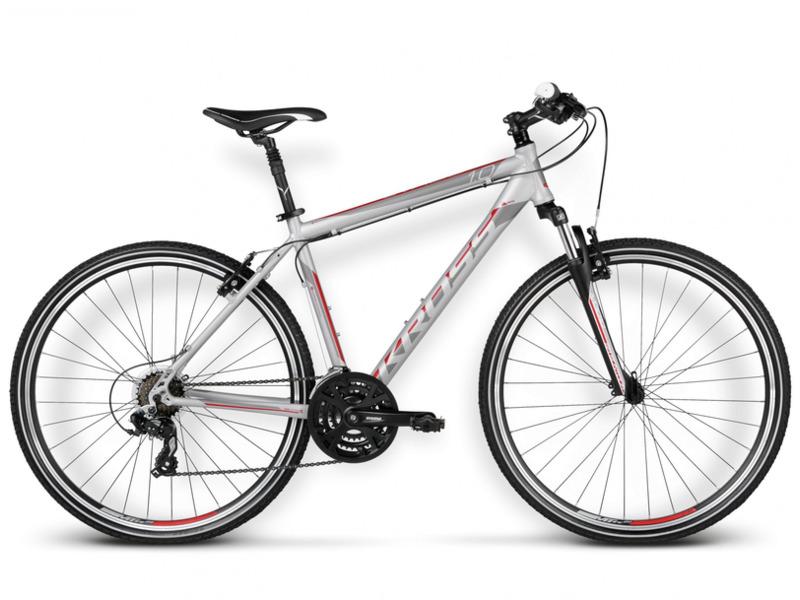 Evado 1.0 (2016)Дорожный велосипед гибридного типа с оборудованием начального класса Shimano, 21 скорость. Технические особенности: алюминиевая рама Aluminium Performance, амортизационная вилка SR Suntour M3010, двойные обода KROSS, ободные механические тормоза Kross V-brake. Подходит для прогулочной езды по шоссе и ровным проселочным дорогам. Диаметр колес - 28 дюймов. Вес - 14.5 кг.<br><br>Рама: Aluminium Performance<br>Вилка: SR Suntour M3010 (travel 50mm)<br>Манетки: Shimano Tourney ST-EF41 7-speed<br>Тормоза: Kross V-brake<br>Передний переключатель: Shimano Tourney FD-TX51<br>Задний переключатель: Shimano Altus RD-M310<br>Передняя втулка: Alloy<br>Задняя втулка: Alloy<br>Каретка: SR Suntour<br>Кассета: Shimano Tourney MF-TZ21 14-28T<br>Цепь: YBN S50<br>Шатун: SR Suntour XCC 48/38/28T<br>Педали: Alloy/Nylon<br>Рулевая колонка: Feimin FP-H816<br>Вынос: Kross Active Components (alloy, ahead, 31,8mm)<br>Руль: Kross Active Components (alloy, rise, 640mm, 31,8mm)<br>Подседельный штырь: Kross Active Components (alloy,suspension, 27,2mm)<br>Седло: Selle Royal Shadow<br>Обода: Kross (Alloy, Double Wall)<br>Покрышки: Rubena V84 Gripper 28