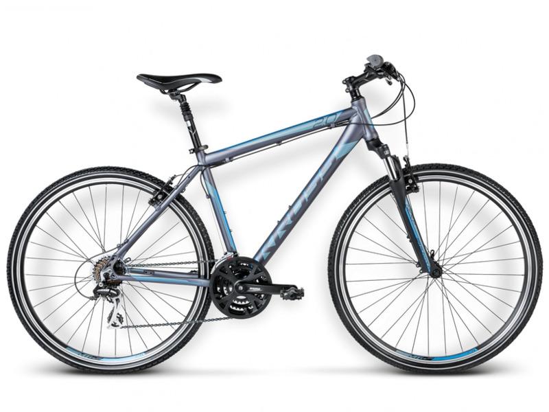 Evado 2.0 (2016)Дорожный велосипед гибридного типа с оборудованием любительского класса Shimano, 21 скорость. Технические особенности: алюминиевая рама Aluminium Performance, амортизационная вилка SR Suntour NEX, двойные обода KROSS, ободные механические тормоза Kross V-brake. Подходит для прогулочной езды по шоссе и ровным проселочным дорогам. Диаметр колес - 28 дюймов. Вес - 14.7 кг.<br><br>Рама: Aluminium Performance<br>Вилка: SR Suntour NEX (travel 63mm)<br>Манетки: Shimano Tourney ST-EF51-A 7-speed<br>Тормоза: Kross V-brake<br>Передний переключатель: Shimano Altus FD-M191<br>Задний переключатель: Shimano Acera RD-M360<br>Передняя втулка: Alloy<br>Задняя втулка: Alloy<br>Каретка: SR Suntour<br>Кассета: Shimano Tourney MF-TZ21 14-28T<br>Цепь: YBN S50<br>Шатун: SR Suntour XCC 48/38/28T<br>Педали: Alloy/Nylon<br>Рулевая колонка: Feimin FP-H816<br>Вынос: Kross Active Components (alloy, ahead, 31,8mm)<br>Руль: Kross Active Components (alloy, rise, 640mm, 31,8mm)<br>Подседельный штырь: Kross Active Components (alloy,suspension, 27,2mm)<br>Седло: Selle Royal Shadow<br>Обода: Kross (Alloy, Double Wall)<br>Покрышки: Rubena V84 Gripper 28