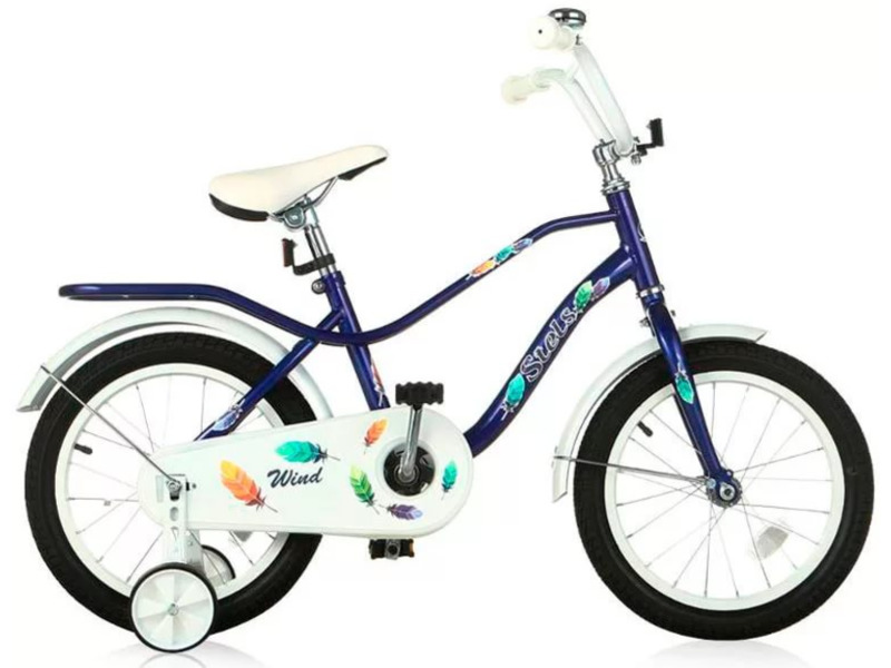 Wind 16 (2016)Велосипед, предназначенный для детей в возрасте от трех до шести лет, без переключения передач. Технические особенности: стальная рама, жесткая вилка, одинарные обода, передний тормоз - ручной, задний - ножной, защита цепи, стальные крылья, мягкая накладка на руле, съемные боковые колесики, звонок. Подходит для обучения и легких прогулок. Диаметр колес - 16 дюймов. Вес - 10,8 кг.<br><br>Рама: Сталь<br>Вилка: Жесткая, сталь<br>Тормоза: Передний: V-brake; задний ножной<br>Система: Wheeltop, сталь, 32T<br>Каретка: Сталь<br>Кассета: 18T<br>Педали: Пластик<br>Вынос: Сталь<br>Руль: Сталь<br>Подседельный штырь: Сталь<br>Седло: Детское<br>Обода: Одинарные, сталь<br>Покрышки: 16 х 2,125?<br>Цвета выпускаемые: зеленый<br>Размеры выпускаемые: Один размер