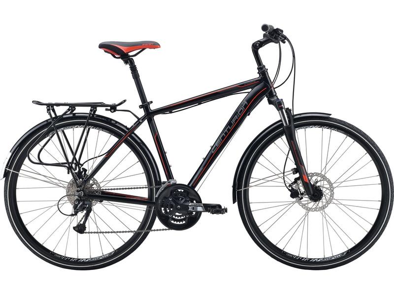 Crossline 70 EQ (2016)Дорожный велосипед класса туринг с оборудованием любительского класса Shimano, 27 скоростей. Технические особенности: алюминиевая рама Cross Line Comp D, амортизационная вилка SR Suntour NEX HLO, двойные обода Alloy double D, дисковые гидравлические тормоза Tektro Vela HD-T290, длинные крылья, багажник, амортизированный подседельный штырь, регулируемый вынос. Подходит для туристического и прогулочного катания по шоссе и ровным проселочным дорогам. Диаметр колес - 28 дюймов.<br><br>Рама: Cross Line Comp D<br>Вилка: SR Suntour NEX HLO, 63 mm<br>Манетки: Shimano Altus rapidfire<br>Тормоза: Tektro Vela HD-T290<br>Передний переключатель: Shimano Altus<br>Задний переключатель: Shimano Acera 9<br>Передняя втулка: Alloy Disc QR<br>Задняя втулка: Alloy Disc QR<br>Система: SR Suntour XCM-T418,48-36-26 CG<br>Каретка: Cartridge Bearing<br>Кассета: Sunrace CS 9-sp, 11-32<br>Цепь: KMC Z99<br>Педали: PP/Alloy Pedal<br>Рулевая колонка: Quill Headset<br>Вынос: Adj Quill stem<br>Руль: Procraft OS, Riser 25/660mm<br>Подседельный штырь: Suspension SP-71, 27.2mm<br>Седло: Procraft Cross Comfort<br>Обода: Alloy double D<br>Спицы: Stainless Silver<br>Покрышки: Kenda Kwick Roller Holiday 40 mm<br>Цвета выпускаемые: черный/красный<br>Размеры выпускаемые: 15, 17, 19?