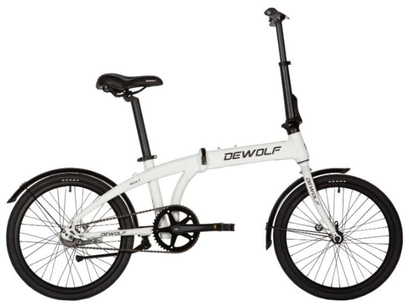 Micro 4 (2017)Складной прогулочный велосипед с оборудованием планетарного типа SRAM, 2 скорости. Технические особенности: легкая алюминиевая рама, жесткая стальная вилка, двойные алюминиевые обода, ножные педальные тормоза, защита цепи, длинные крылья, подножка. Подходит для прогулочного катания в городских условиях. Диаметр колес - 20 дюймов.<br><br>Рама: Алюминий<br>Вилка: Steel<br>Тормоза: Ножные (Coaster brake)<br>Передняя втулка: KT-A85F, Alloy, 14Gх28H, Black<br>Задняя втулка: Sram Automatix 2-speed, coaster brake, 28H<br>Система: GT8-150 44Tx170mm, Alloy<br>Каретка: Neco B910E Seal BB.Sets, L=120mm<br>Кассета: Sram 19T<br>Цепь: KMC Z410<br>Педали: FP-909 Folding Bike Pedal, 16/9 PVC Black<br>Вынос: Folding bike stem, 25.4х70mm, Alloy Black<br>Руль: One-Type Alloy 2.0T black<br>Подседельный штырь: 34х550mm, w/Clamp, 34х550mm Alloy Black<br>Седло: Vader VD1150<br>Обода: 20х1.5, double alloy, 14Gх28H, H=19.5, A/V<br>Спицы: 14Gх28H, F: 180, R: 173, ED<br>Покрышки: Kenda K193 20х1.50?AV 35mm/OB, Black<br>Цвета выпускаемые: белый<br>Размеры выпускаемые: 13?