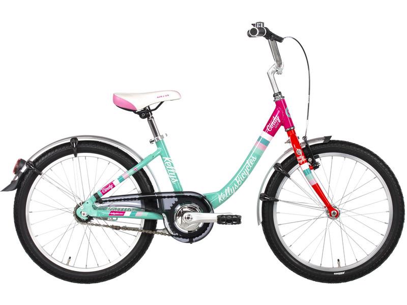 Cindy 50 20 (2017)Велосипед, предназначенный для девочек в возрасте от пяти до девяти лет, без переключения передач. Технические особенности: алюминиевая рама Kellys Aluminum, жесткая стальная вилка, двойные обода KLS, передний тормоз - APSE Artek V-brake, задний - ножной, пластиковая защита цепи, длинные крылья, подножка, звонок. Подходит для обучения и прогулочного катания в городских условиях. Диаметр колес - 20 дюймов.<br><br>Рама: Kellys Aluminum алюминий monotube 20?<br>Вилка: Hi-ten unicrown (threaded steerer 25.4мм)<br>Манетки: Shimano Nexus SL-3S42E Revoshift<br>Тормоза: APSE Artek V-brake / Shimano coaster brake<br>Передняя втулка: Алюминий<br>Задняя втулка: Coaster brake (28 отверстия)<br>Система: Prowheel (36) - длина 140мм<br>Каретка: Cartridge (116мм)<br>Кассета: Single 18T sprocket<br>Цепь: KMC Z510 (84 звеньев)<br>Педали: NonSlip - пластик<br>Рулевая колонка: Threaded<br>Вынос: Алюминий - диаметр 22.2мм / 30 градусов / длина 40мм<br>Руль: Steel - диаметр 25.4мм / ширина 610мм<br>Подседельный штырь: Steel - диаметр 27.2мм / длина 260мм<br>Седло: KLS Junior<br>Обода: KLS 406x21 (28 отверстия)<br>Спицы: U.C.P. steel<br>Покрышки: Rubena Walrus 47-406 (20x1.75x2)<br>Цвета выпускаемые: красный, зеленый, коричневый, черный<br>Размеры выпускаемые: 295 мм