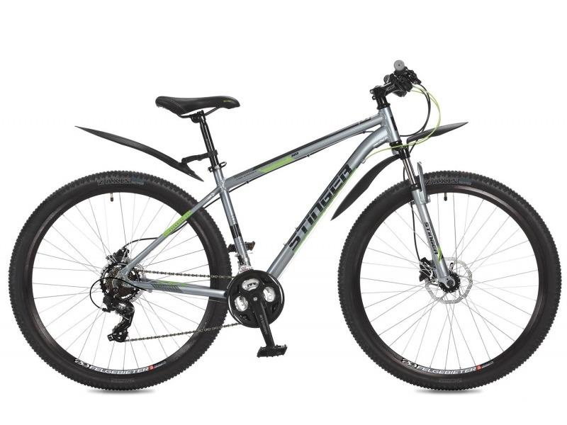 Graphite HD 29 (2017)Горный велосипед с оборудованием начального класса Shimano, 21 скорость. Технические особенности: легкая алюминиевая рама, амортизационная вилка Stinger, двойные алюминиевые обода Felgebeiter HAC-2, дисковые гидравлические тормоза Shimano Altus M315. Подходит для активного катания по различным дорогам и пересеченной местности. Диаметр колес - 29 дюймов.<br><br>Рама: Алюминий<br>Вилка: Амортизирующая вилка Stinger, ход 50мм<br>Манетки: Microshift TS-38; куркового типа; 3x7ск.<br>Тормоза: Shimano Altus M315; дисковые гидравлические<br>Передний переключатель: Shimano Tourney TY500<br>Задний переключатель: Shimano Tourney<br>Передняя втулка: STG A25; дисковые; стальные; с эксцентриками<br>Задняя втулка: STG A25; дисковые; стальные; с эксцентриками<br>Система: Stinger FCM; 170мм; 42/34/24t<br>Каретка: STG BBP-08A; картридж<br>Кассета: Shimano Tourney MF-TZ31; 7ск. 14-34<br>Цепь: Taya TS-80<br>Педали: Feimin FP807; пластик<br>Вынос: STG 078; алюминий<br>Руль: Стальной райзер; 31.8мм x 660мм<br>Подседельный штырь: Stinger алюминий; 27.2мм<br>Седло: STG<br>Обода: Felgebeiter HAC-2; двойные<br>Покрышки: Z-Axis 786 29x2.1?<br>Цвета выпускаемые: серый<br>Размеры выпускаемые: 18, 20?