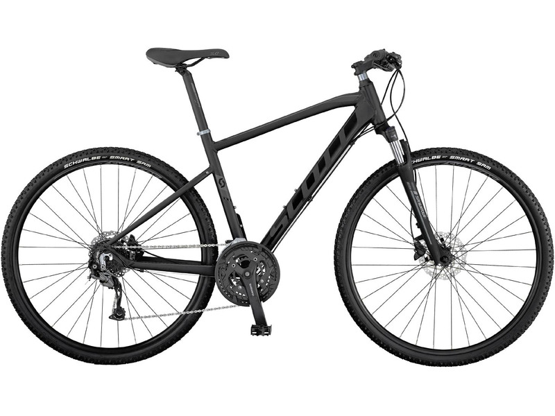 Sub Cross 30 (2017)Дорожный велосипед гибридного типа с оборудованием любительского класса Shimano, 27 скоростей. Технические особенности: алюминиевая рама SUB Cross 6061, амортизационная вилка Suntour NEX HLO, двойные обода Syncros X-20 Disc, дисковые гидравлические тормоза Shimano BR-M315. Подходит для активной езды по различным дорогам и пересеченной местности. Диаметр колес - 28 дюймов.<br><br>Рама: 2017 SUB Cross алюм. 6061 D.B. / внутр. прокл. кабелей / адаптировано под аксс. серии URBAN<br>Вилка: Suntour NEX HLO / гидравл. блокировка / 63mm ход<br>Манетки: Shimano SL-M370-9 / R-fire plus с индк. передачи<br>Тормоза: Shimano BR-M315 / диск. гидравл. / SM- RT10 CL диски / 160F/160R<br>Передний переключатель: Shimano Altus FD-M370 / 34.9mm<br>Задний переключатель: Shimano Alivio RD-M4000 / 27 скоростей<br>Передняя втулка: Shimano HB-TX505<br>Задняя втулка: Shimano FH-TX5058<br>Система: Shimano FC-T3010 / 48x36x26 / с защитой<br>Каретка: Shimano BB-UN-26 / картридж<br>Кассета: Shimano CS-HG200-9 11-34 T<br>Цепь: KMC X9<br>Педали: Wellgo M-141SDU<br>Рулевая колонка: GW 1SI110 OE интегр.<br>Вынос: Syncros UC3.0 / 7 градусов / черн.<br>Руль: Syncros UC3.0 / 31.8 / Мужской: Tbar/620mm/9 градусов изгиб / Женский: 680mm/15 градусов изгиб<br>Подседельный штырь: Syncros UC3.0 / 31.6mm / 350mm / черн.<br>Седло: SUB Cross Men EVO (мужской) / lady EVO (женский)<br>Обода: Syncros X-20 Disc / 32H / черн.<br>Спицы: Stainless черн. / 14G / 2mm<br>Покрышки: Impac SmartPac / 700x42C / 50 TPI<br>Цвета выпускаемые: серый/черный<br>Размеры выпускаемые: S, M, L, XL