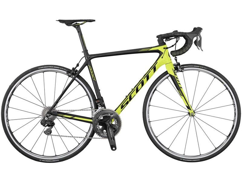 Купить Велосипед Scott Addict RC Di2 (2017) в интернет магазине велосипедов. Выбрать велосипед. Цены, фото, отзывы