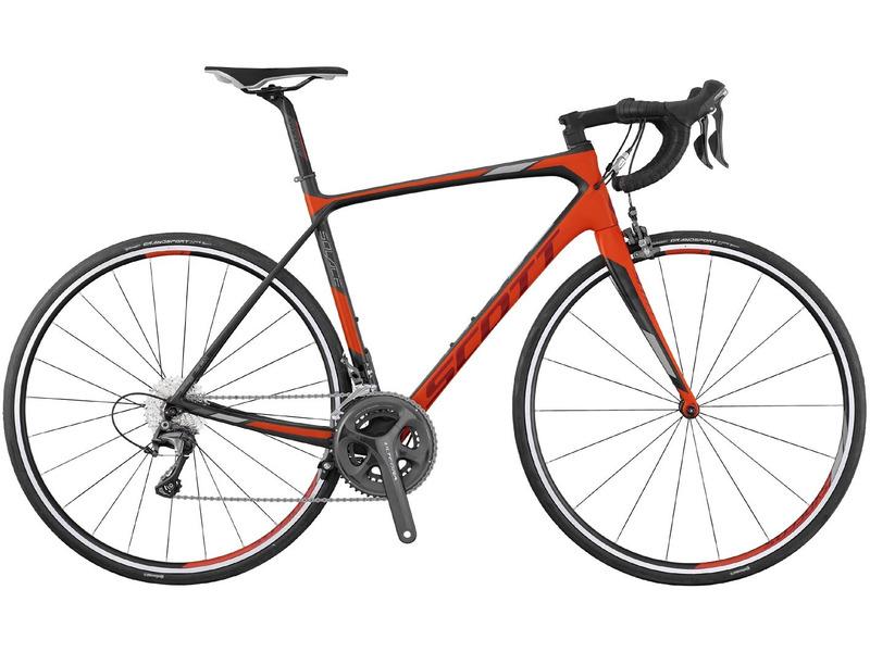 """Solace 10 (2017)Шоссейный велосипед высшего уровня с оборудованием профессионального класса Shimano, 22 скорости. Технические особенности: карбоновая рама Solace HMF, жесткая вилка Solace HMF, двойные обода Syncros RP2.0, ободные тормоза клещевого типа Shimano Ultegra BR-6800 / BR-5810. Подходит для быстрой спортивной езды по шоссе и участия в гонках. Диаметр колес - 28 дюймов.<br><br>Рама: Solace HMF / технология IMP / комфортн. геометрия<br>Вилка: Solace HMF 1 1/8"""" Карбоновая рул.труба / алюм. дропауты<br>Манетки: Shimano Ultegra ST-6800 Carbon Dual control 22 скорости<br>Тормоза: Shimano Ultegra BR-6800 / BR-5810 (зад.) Super SLR Dual pivot / крепление DM (зад.)<br>Передний переключатель: Shimano Ultegra FD-6800<br>Задний переключатель: Shimano Ultegra RD-6800-GS 22 скорости<br>Передняя втулка: Syncros RP2.0<br>Задняя втулка: Syncros RP2.0<br>Система: Shimano Ultegra FC-6800 GREY Hollowtech II 50x34 T<br>Каретка: Shimano SM-BB72-41<br>Кассета: Shimano 105 CS-5800 11-32<br>Цепь: Shimano CN-HG601-11<br>Педали: не входят в комплектацию<br>Рулевая колонка: Syncros интегр.<br>Вынос: Syncros RR2.0 1 1/8"""" / four Bolt 31.8mm<br>Руль: Syncros RR2.0 анатомич. 31.8mm<br>Подседельный штырь: Syncros карбоновый RR1.2 27.2/350mm<br>Седло: Syncros FL2.0<br>Обода: Syncros RP2.0 18 Front / 24 Rear<br>Спицы: Syncros RP2.0<br>Покрышки: Continental Grand Sport Race Fold 700?25C<br>Цвета выпускаемые: черный/красный<br>Размеры выпускаемые: 47, 49, 52, 54, 56, 58, 61"""