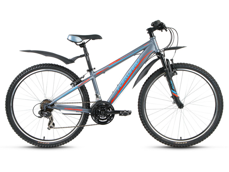 """Flash 3.0 (2017)Горный велосипед для начинающих с навесным оборудованием Shimano, 21 скорость. Технические особенности: прочная стальная рама Hi-Ten, амортизационная вилка Zoom 381, двойные обода Weinmann XTB26, надежные ободные тормоза Promax TX-117L V-Brake, подножка. Подходит для прогулочного катания по различным дорогам и пересеченной местности. Диаметр колес - 26 дюймов. Вес - 16,8 кг.<br><br>Рама: Сталь Hi-Ten<br>Вилка: Zoom 381, ход 60 мм<br>Манетки: Shimano Tourney EF41<br>Тормоза: Promax TX-117L V-Brake<br>Передний переключатель: Shimano Tourney FD-TY300<br>Задний переключатель: Shimano Tourney RD-TY300<br>Передняя втулка: Joytech, стальная анодированная<br>Задняя втулка: Joytech, стальная анодированная<br>Система: Prowheel MC-S826, стальная<br>Каретка: Neco b906, полукартриджная<br>Кассета: Shimano Tourney MF-TZ21<br>Цепь: KMC HV500 RO<br>Педали: Пластик<br>Рулевая колонка: Neco, 1 1/8?, полуинтегрированная безрезьбовая<br>Вынос: Forward, безрезьбовой алюминиевый матовый<br>Руль: Стальной матовый, 25,4х620 мм<br>Подседельный штырь: Сталь, 28,6x300 мм<br>Седло: MTB<br>Обода: Weinmann XTB26, анодированные, алюминиевые двустеночные<br>Покрышки: Forward, 26x2,125 (30tpi)<br>Цвета выпускаемые: серый, желтый<br>Размеры выпускаемые: 15.5, 17.5"""""""