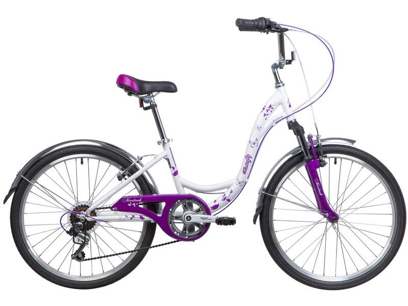 Велосипед Novatrack Butterfly 24 (2019)  - купить со скидкой
